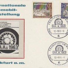 Sellos: ALEMANIA BERLIN, FERIA INTERNACIONAL DEL AUTOMOVIL DE FRANKFURT, MATASELLO DE 12-9-1963. Lote 73037731