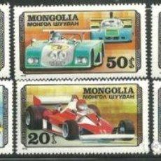 Sellos: MONGOLIA 1978 IVERT 944/50 *** AUTOMOVILES DE CARRERAS - COCHES. Lote 81665500