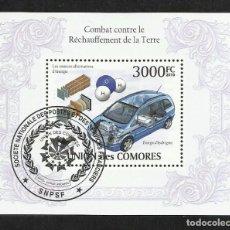 Sellos: COMORAS 2010 HOJA BLOQUE SELLO COCHE ECOLOGICO . Lote 130956136