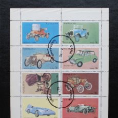Sellos: NAGALAND 1972, HOJA BLOQUE COCHES (O). Lote 88733400