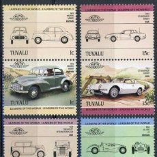 Sellos: TUVALU 1984 IVERT 279/86 *** AUTOMOVILES ANTIGUOS 1ª SERIE - COCHES. Lote 90793475