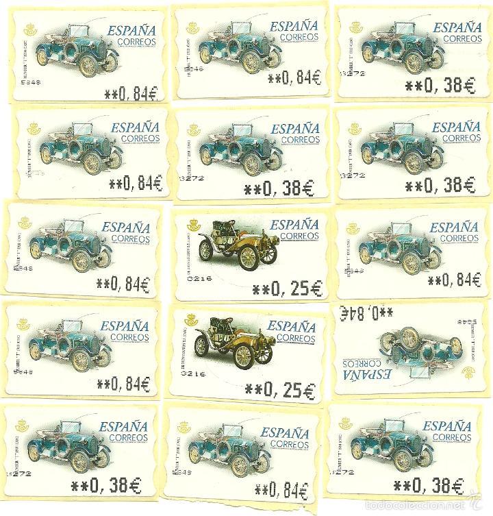 15 SELLOS NUEVOS COLECCION COCHES (Sellos - Temáticas - Automóviles)