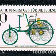 Timbres: ALEMANIA IVERT Nº 955, VEHICULO A MOTOR, PATENTE BENZ 1886 (MUSEO DE MUNICH), NUEVO ***. Lote 97151035