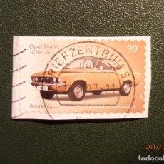 Sellos: ALEMANIA - DEUTSCHLAND - COCHES - AUTOMOVILES CLASICOS - OPEL MANTA A 1970-75. Lote 98614783