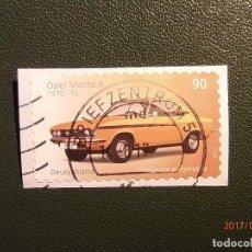 Sellos: ALEMANIA - DEUTSCHLAND - COCHES - AUTOMOVILES CLASICOS - OPEL MANTA A 1970-75. Lote 98614903
