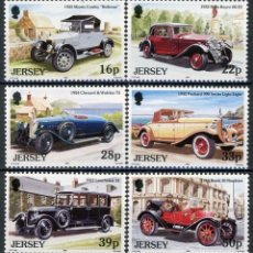Sellos: JERSEY 1992 IVERT 579/84 *** AUTOMOVILES ANTIGUOS (II) - COCHES. Lote 100281607