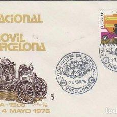 Sellos: AÑO 1976, SALON DEL AUTOMOVIL DE BARCELONA, 3-5-1976 EN SOBRE DE ALFIL. Lote 100997199