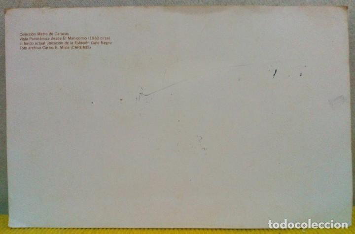 Sellos: TARJETA CON 4 SELLOS HISTORIA DEL TRANSPORTE. ANTES DE LA INAUGURACIÓN DEL METRO DE CARACAS 1981 - Foto 3 - 103980935