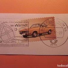 Sellos: ALEMANIA - COCHES - OPEL MANTA A (1970-75) - ST. NICOLA IM WAMDT - NIKOLAUSPOSTAMT - SANTA CLAUS.. Lote 105338267