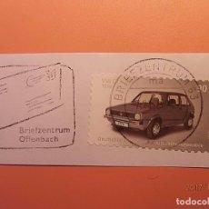 Sellos: ALEMANIA - COCHES - VW GOLF SERIE A (1974-83) - RODILLO ESPECIAL DE CARTA.. Lote 105338903