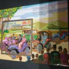 Sellos: HB/SELLOS DE GUINEA ECUATORIAL NUEVA. 1976. COCHES CLASICOS. AUTOMOVILES. CARRERA. BURGUESES.. Lote 108283358
