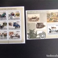 Sellos: COMORES 2008 COCHES ANTIGUOS MICHEL Nº 1825/30 + BLOC 433 ** MNH. Lote 109858123