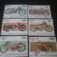 Francobolli: SELLOS DE KAMPUCHEA (CAMBOYA) MTDOS. 1984. ANIVERSARIOS. MOTOS. MOTOCICLETAS.PREMIER. SIMSOM. JAWA. Lote 110644863