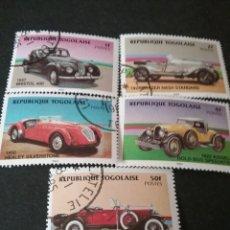 Sellos: SELLOS DE TOGO (TOGOLAISE) MTDOS. 1984. AUTOMOVILES. COCHES. LA SALLE. SILVERSTONE. BRISTOL. TRANSPO. Lote 111223159