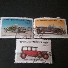 Sellos: SELLOS DE TOGO (TOGOLAISE) MTDOS. 1984. AUTOMOVILES. COCHES. TRANSPORTES. NAIPIER. MORGAN.. Lote 111223616