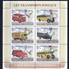 Sellos: COMORES 2008 IVERT 1267/72 *** TRANSPORTES DE CORREOS - AUTOMOVIES - COCHES. Lote 113668471