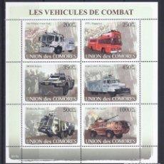 Sellos: COMORES 2008 IVERT 1273/8 *** VEHICULOS MILITARES - AUTOMOVIES - COCHES. Lote 113668779