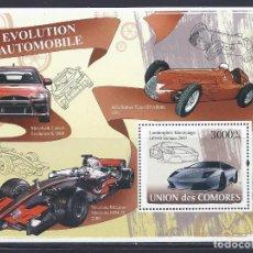 Sellos: COMORES 2008 HB IVERT 123 *** EVOLUCIÓN DEL AUTOMOVIL - COCHES - LAMBORGINI MURCIELAGO LP640. Lote 113669655