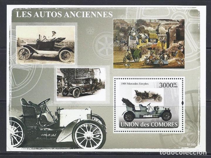 COMORES 2008 HB IVERT 128 *** AUTOMOVILES ANTIGUOS - COCHES (Sellos - Temáticas - Automóviles)