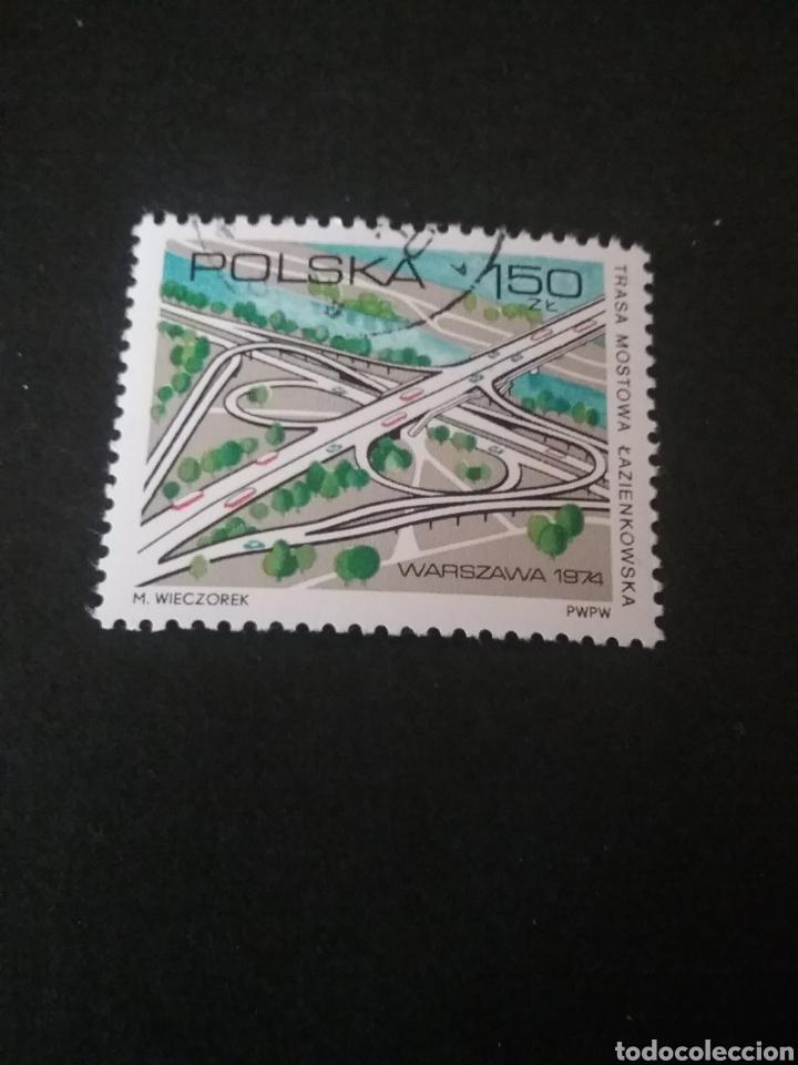 SELLOS DE POLONIA (POLSKA) MATASELLADOS. 1974. CARRETERAS. COCHES. AUTOPISTAS. RIO. ARQUITECTURA. C (Sellos - Temáticas - Automóviles)