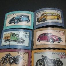 Sellos: SELLOS DE POLONIA (POLSKA) MATASELLADOS. 1987. COCHES. MOTOS. MOTOCICLETA. VEHICULOS. CAMION.. Lote 114934390