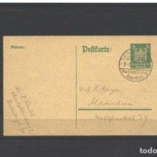 Sellos: ALEMANIA 1925 - BERLIN POSTKARTER SALON DEL AUTOMOVIL USADO. Lote 123290175