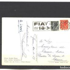 Sellos: ITALIA 1959 - FIAT 1800 - ROMA - TARJETA CIRCULADA. Lote 126067051