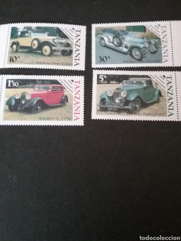 SELLOS R. U. TANZANIA NUEVOS. 1986. COCHES CLASICOS. ROLLS ROYCE. AUTOMOVILES. TRANSPORTES (Sellos - Temáticas - Automóviles)
