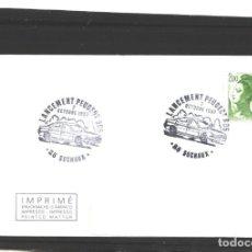 Sellos: FRANCIA 1989 - LANCEMENT PEUGEOT 605 - SOCHAUX. Lote 127138383