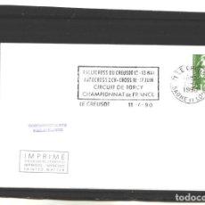 Sellos: FRANCIA 1990 - RALLYCROSS DU CREUSOT. Lote 127183359