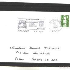 Sellos: FRANCIA 1990 - MUSEE PEUGEOT - SOCHAUX. Lote 127184011