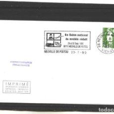 Sellos: FRANCIA 1990 - 6 SALON DU MODELE RÉDUIT - NEUVILLE DE POITOU. Lote 127184131