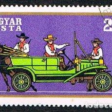 Timbres: HUNGRIA 2592, COCHES HISTORICOS: FORD T DE 1908, USADO. Lote 129092987