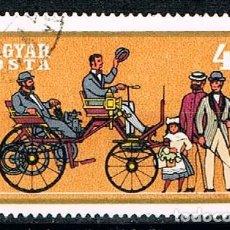 Timbres: HUNGRIA 2587, COCHES HISTORICOS: DAIMLER DE 1886, USADO. Lote 129093071