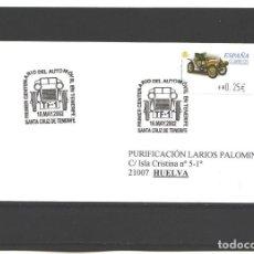 Sellos: ESPAÑA 2002 - 1ER CENT. DEL AUTOMOVIL EN TENERIFE - STA. CRUZ DE TENERIFE. Lote 130083499