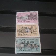 Sellos: SELLOS R. SURINAM (SURINAME) NUEVOS. 1968. IGLESIA. PALMERAS. FLORA. COCHE. CABALLO. CARRO. BICI. ED. Lote 130829051