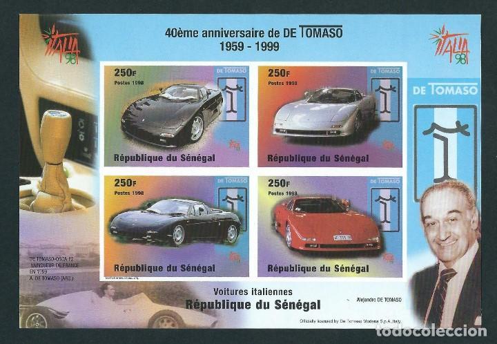 REPUBLICA DE SENEGAL 1999 40 ANIVERSARIO DE DE TOMASO (Sellos - Temáticas - Automóviles)
