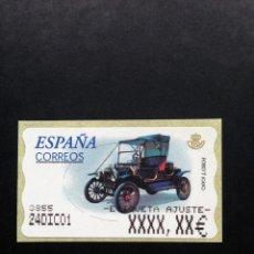 Sellos: ESPAÑA.AÑO 2001.ATMS./COCHES DE ÉPOCA.. Lote 132950322