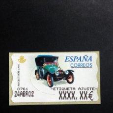 Sellos: ESPAÑA.AÑO 2001.ATMS./COCHE DE ÉPOCA.. Lote 132950430