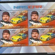 Sellos: BURUNDI 2012 HOJA BLOQUE SELLOS TEMÁTICA AUTOS NASCAR- COCHES AUTOMOVIL- EARNHARDT- WRANGLER FORD. Lote 133264814