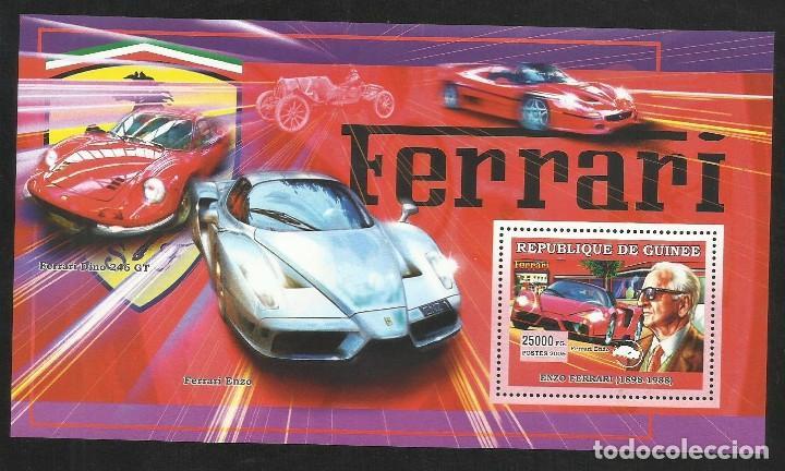 GUINEA 2006 HOJA BLOQUE SELLOS TEMÁTICA AUTOS DEPORTIVOS- COCHES- ENZO FERRARI (Sellos - Temáticas - Automóviles)