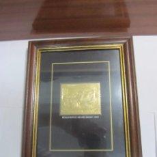 Sellos: 6 SELLOS DE COCHES CLÁSICOS LAMINADOS EN ORO 22KL ENMARCADOS - CON CERTIFICADO. Lote 133834938