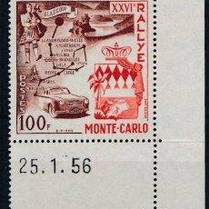Sellos: SELLO MONACO 1956 Y&T 441** XXVI RALLYE MONTECARLO. Lote 134158646