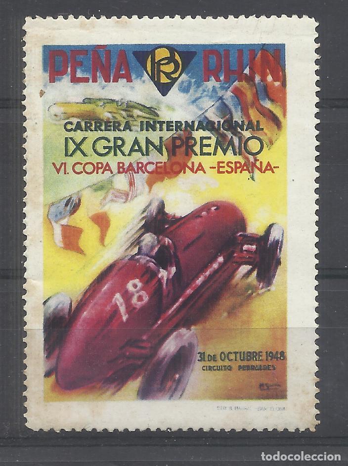 PEÑA RHIN CARRERA INTERNACIONAL 1948 BARCELONA (Sellos - Temáticas - Automóviles)