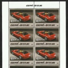 Sellos: GUINEA 2005 HOJA BLOQUE SELLOS TEMÁTICA AUTOS FERRARI- COCHES - AUTOMOVIL DEPORTIVO. Lote 138626906