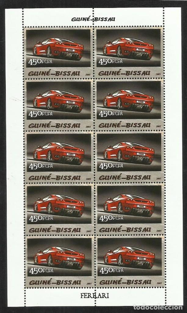 GUINEA 2005 HOJA BLOQUE SELLOS TEMÁTICA AUTOS FERRARI- COCHES - AUTOMOVIL DEPORTIVO (Sellos - Temáticas - Automóviles)