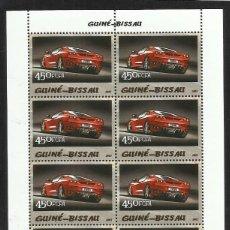 Sellos: GUINEA 2005 HOJA BLOQUE SELLOS TEMÁTICA AUTOS FERRARI- COCHES - AUTOMOVIL DEPORTIVO. Lote 138626978