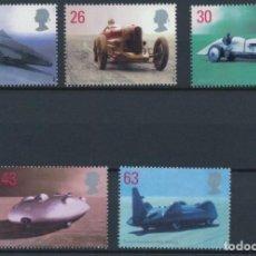 Timbres: SELLOS GRAN BRETAÑA 1998 Y&T 2056/60** AUTOMÓVILES DEPORTIVOS CLÁSICOS INGLESES. Lote 141501190