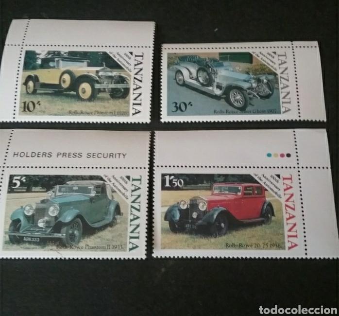 SELLOS R. U. TANZANIA NUEVOS. 1986. COCHES CLASICOS. ROLLS ROYCE. AUTOMOVILES. TRANSPORTES. (Sellos - Temáticas - Automóviles)