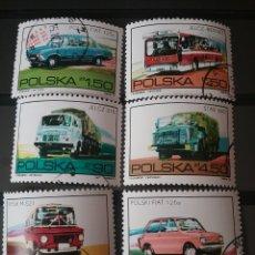 Sellos: SELLOS R. POLONIA (POLSKA) MTDOS/1973/VEHICULOS POLACOS/COCHES/AUTOMOVILES/TRANSPORTES/CAMION/AUTOBU. Lote 141782693